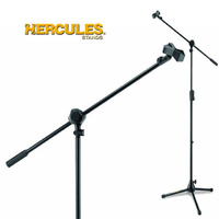 Hercules MS532B Professional boom microphone stand with 1 hand trigger operation height adjustment