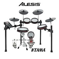 Alesis Crimson SE Mesh Head 5pce Electronic Drum Kit Tama HP200 Double Bass Drum Pedal with 3 cymbals drumset