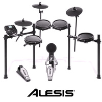 Alesis Nitro Mesh 5pce Electronic Drum Kit inc Hi-hat Crash and Ride set