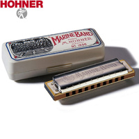 Hohner Marine Band Harmonica ( KEY OF Bb ) 1896BBX Diatonic Harp