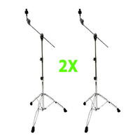 2 X Cymbal Boom Stand Double Braced Heavy Duty Crash Ride China DP Drums CB-3670