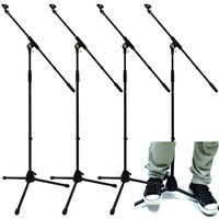 4 X MS200 Microphone Boom Mic Stand Pro Quality Unbreakable Base 2 Year Warranty