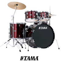 Tama Stagestar 5pce Wine Red Drum kit inc 14 16 Cymbal Set Pack and throne