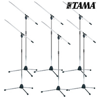 6x Tama MS205 Chrome Boom Microphone Stand Professional