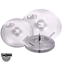 Sabian Quiet Tone Practice Cymbal Set 14 Hats 16 Crash 20 Ride QTPC503
