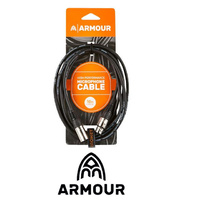 1 X Armour XLR-XLR 3 Metre Microphone Lead Cable
