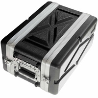 ABS 4U Shallow Effects Rack Case Durable Lightweight