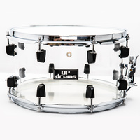 "DP Drums Diamond Acrylic 14"" x 8"" Snare Drum Seamless Shells Remo Heads"