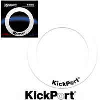 KickPort T-Ring Bass Drum Template Reinforcement Port Ring White
