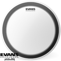 Evans Emad Clear 16 Inch Bass drum head batter with patch