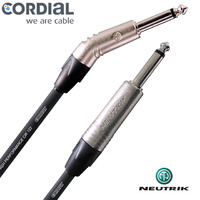 Cordial 10ft Guitar Cable 30 Degree Jack Instrument Lead Neutrik Loaded 3 metre CXI-3-PR30