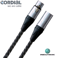 Cordial 10m Braided Vintage XLR-XLR Microphone Lead Neutrik Loaded CXM10-FM-VINT