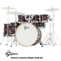 Gretsch Catalina Maple 7 Piece Dark Cherry Burst Drum Kit Shell Set CM7
