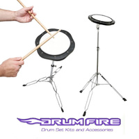 "Drum Fire 8""  Drum Practice Pad and stand package DFP7500"
