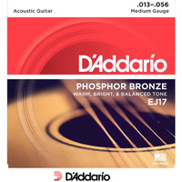 D'addario EJ17 Phosphor Bronze Acoustic 13-56 Medium Guitar Strings Set