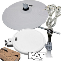 "KAT Percussion EP3 Expansion kit 9"" Dual Zone Tom Pad and 12"" Dual Zone Cymbal with mounting arms"
