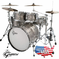 Gretsch Brooklyn Grey Oyster 5 Pce Drum Shell Set Kit USA Made
