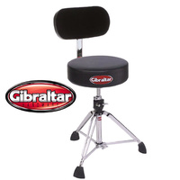 Gibraltar 9608 Professional Drum Stool Throne with UBR Universal Back Rest
