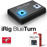 IK Multimedia iRig Blue Turn Bluetooth Page Turner for iPad iPhone Mac and Android