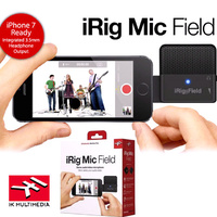 IK Multimedia iRIG FIELD Stereo Microphone for iphone ipad Forward Facing Mic