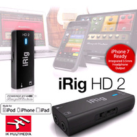 IK Multimedia iRig HD 2 Digital Guitar Instrument Interface with amp line out  iPhone iPad Mac PC