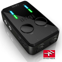 IK Multimedia iRIG Pro Duo 2 Channel Audio Midi Interface for iOS Mac PC