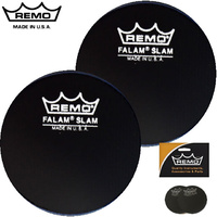 Remo 2.5 Inch Falam 2 Pack Single Bass Drum Protector Patch KS-0002-PH