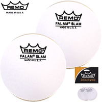 Remo 4 Inch Falam 2 Pack Single Bass Drum Protector Patch KS-0004-PH