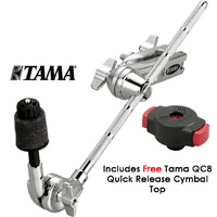 Tama MCA53  Boom Cymbal Holder With Clamp inc FREE QC8
