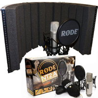 Rode NT2A Condenser Bundle with Sound Reflection Screen Vocal Recording Booth DP Stage Mic Screen 100