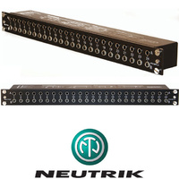 Neutrik Patchbay NYS-SPP-L1 19 inch 1U 48 Way TRS Jack Rack Patch Panel