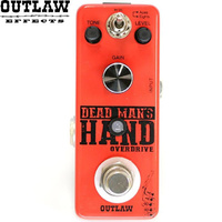 Outlaw Dead Man's Hand 2 Mode Overdrive Distrortion Guitar Effect Pedal