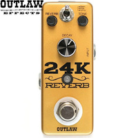 Outlaw 24K Gold Reverb Guitar Effect Pedal