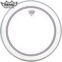 Remo Powerstroke 3 Clear 24 Inch Bass Drum Head Skin with Falams Patch P3-1324-C2