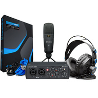 Presonus AudioBox USB 96 Black Recording Interface Bundle including M7 Mic HD7 Headphnes Studio one software