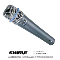Shure Beta 57A Super Cardiod Instrument Dynamic Microphone Australian authorised Shure reseller