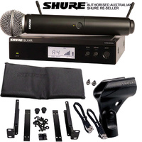 Shure BLX SM58 Rack Mount Wireless Microphone System Handheld BLX24RS58-M17
