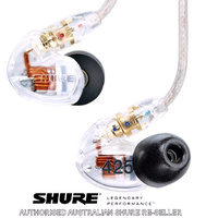 Shure SE425 CL Clear In Ear Sound Isolating IEM Ear phones Buds Dual Micro Drivers