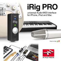 IK Multimedia iRIG Pro Microphone Guitar Keyboard Interface for IOS device iphone ipad